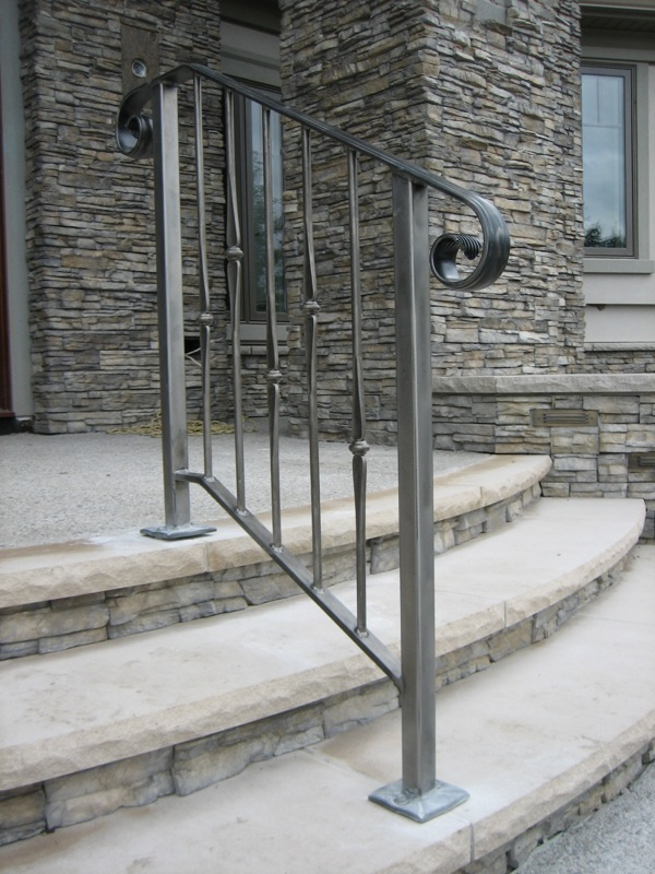 Curved Wrought Iron Stair Railings And Exterior Wrought Iron Railings Quotes